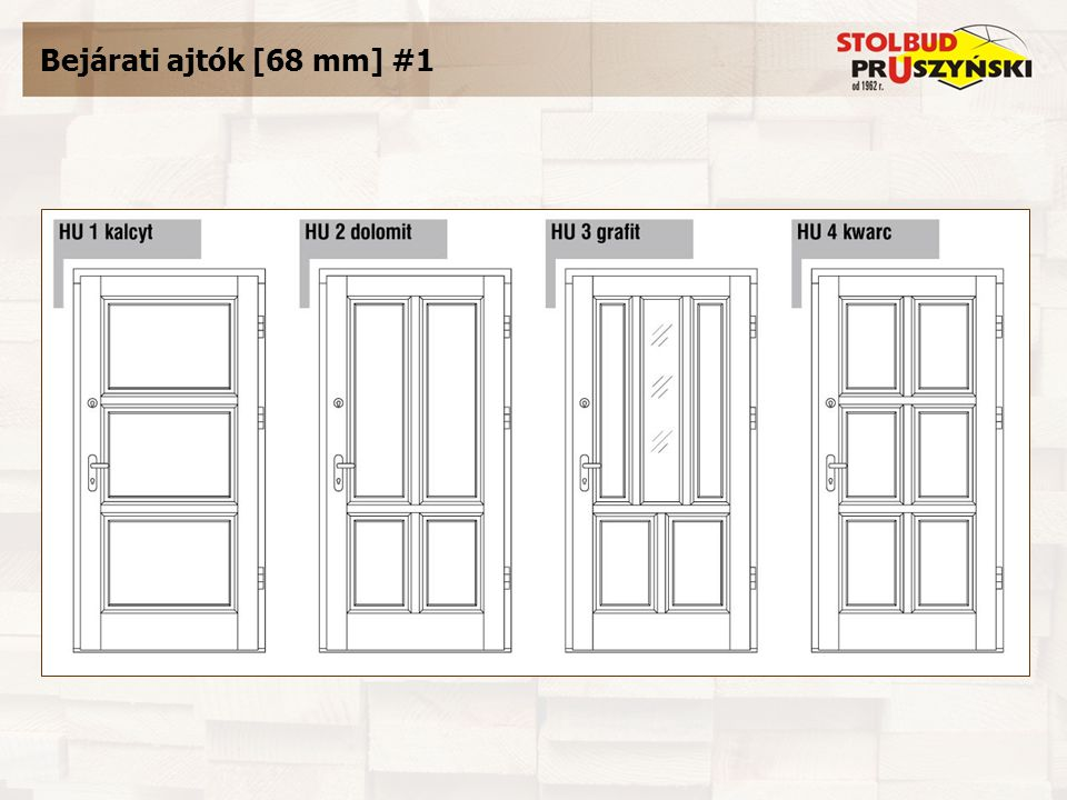 Bejárati ajtók [68 mm] #1